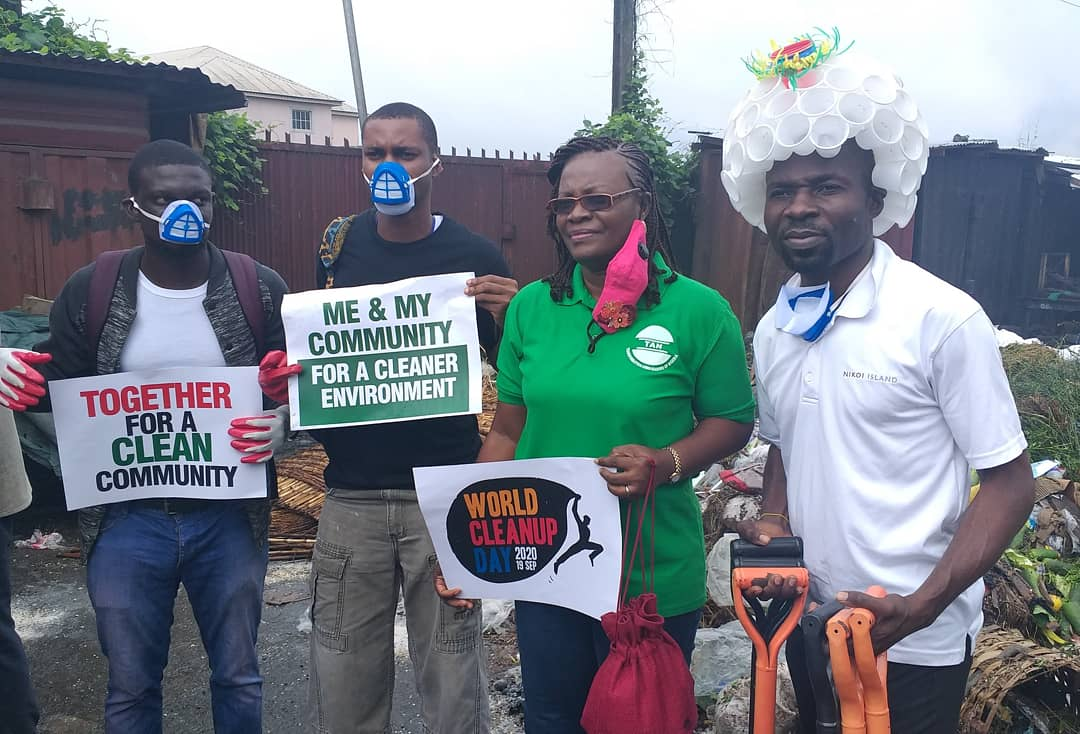 Celebrate world clean up day with @THyouthvoices . Number youth environment action NGO in Nigeria. We love to support good deeds. #WorldCleanupDay #GreatGlobalCleanup #PloggingNigeria #TrashTag #Plogging #THA2020 #MeandtheSDGs #WorldCleanupDay2020