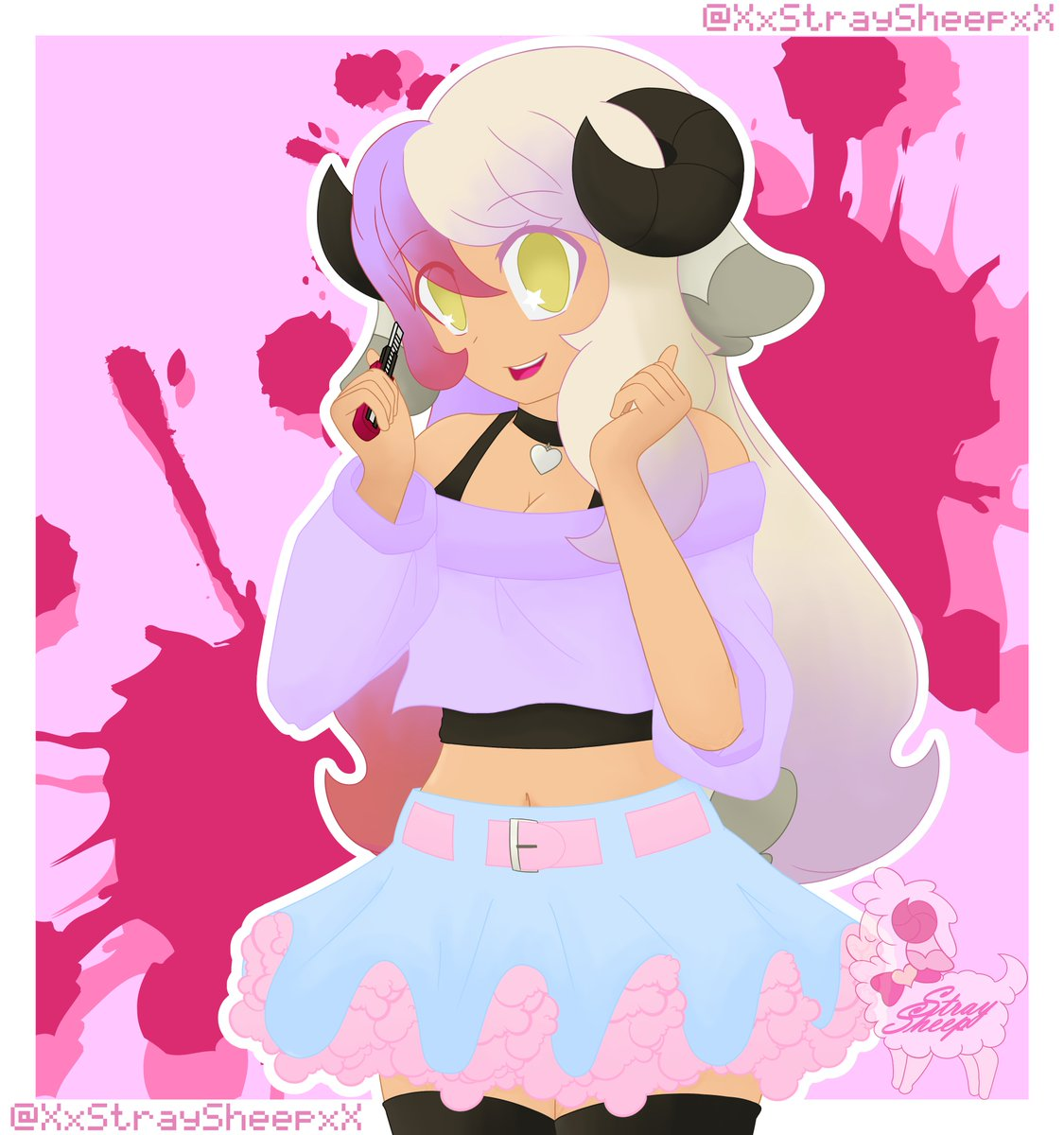 Made for myself after having a shitty year  Inspired by Kosame Amagai from Magical Girl Site, I made my mascot in a pastel goth outfit  Check Out my Pixiv if interested in my art 💖 two other versions are there too!  #menhera #yamikawaii #pastel #goth #cute https://t.co/mfeM2pWMRT