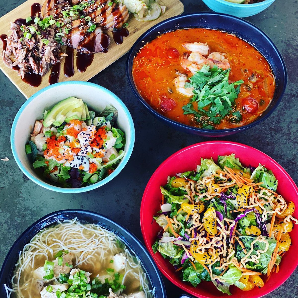 RT @NapaNoodlesInc #Napa  What are you having for dinner this weekend? Soup, #Poke, #salads, slow roasted meats?!Offering Dine in, #patio seating, curbside pick up, & #delivery through #DoorDash & #Uber Eats! #asianfood  #ramen   #visitnapavalley #donapa #takeout #dinein https://t.co/X8BTBKgXqN