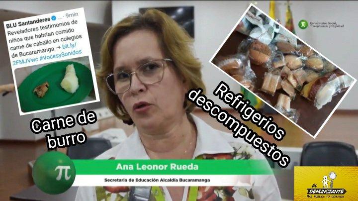 @RCNbucaramanga @Luis_Avila_19 @concejobucara #DenunciaPública📢  Exigimos renuncia de Ana Leonor Rueda, Sec de Educación @AlcaldiaBGA  Indignante que #PAE bajo su cargo entregue carne de burro y refrigerios descompuestos a niños en #Bucaramanga  En gobiernos @ingrodolfohdez y @JCardenasRey ella manejó PAE  ▶️@concejobucara https://t.co/SmRzJdQM8C
