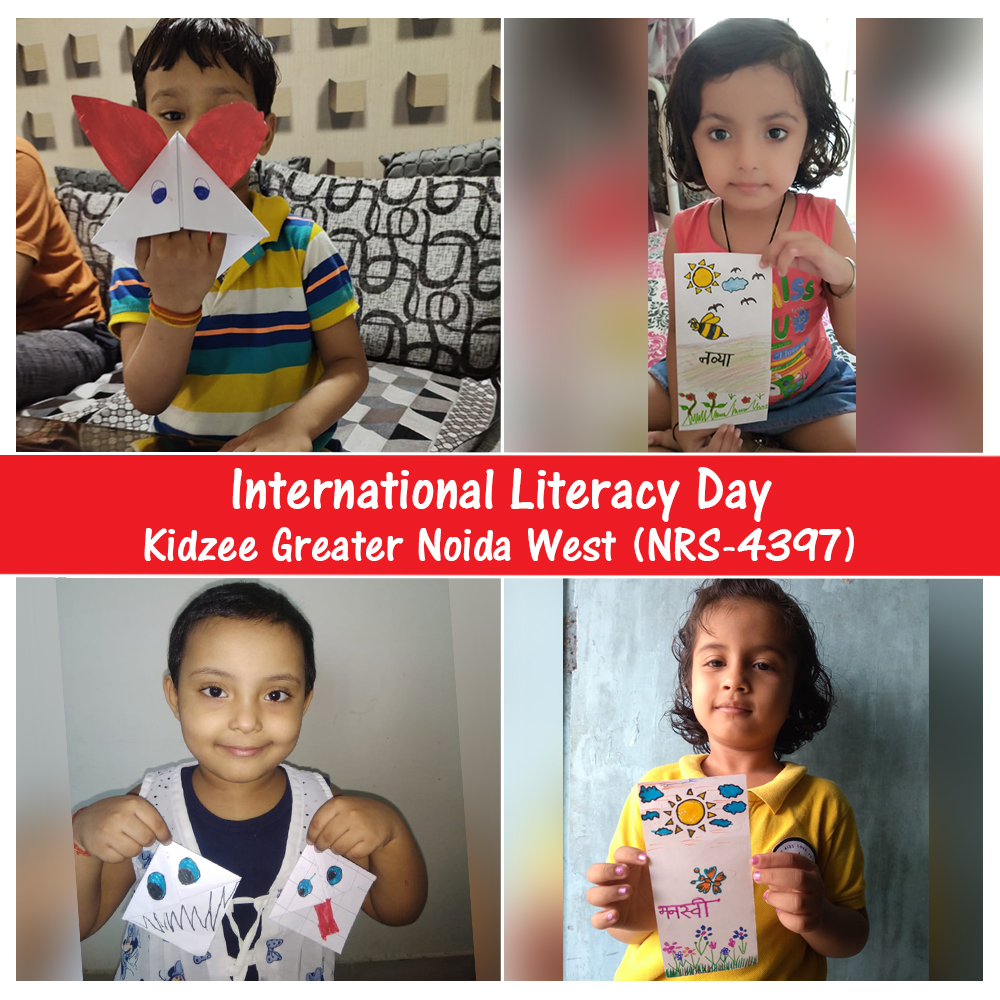 Helping someone to read and write effectively or acquire the basic math skills, improves the future of everyone in society.  Kidzee Greater Noida West celebrated #InternationalLiteracyDay by making posters on literacy.  #Kidzee #KidzeeStudents #Literacy #Education #Learning https://t.co/PguXlQcK6I