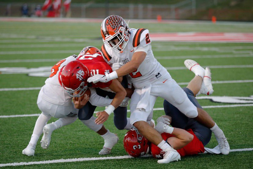 Congratulations @dane_hogue on a record setting night last night. New record holder for both single game tackles and career tackles. Let's keel it rolling! #BeTheOne @HeathSports @heathhsbulldogs https://t.co/2Z9KD7ttUh