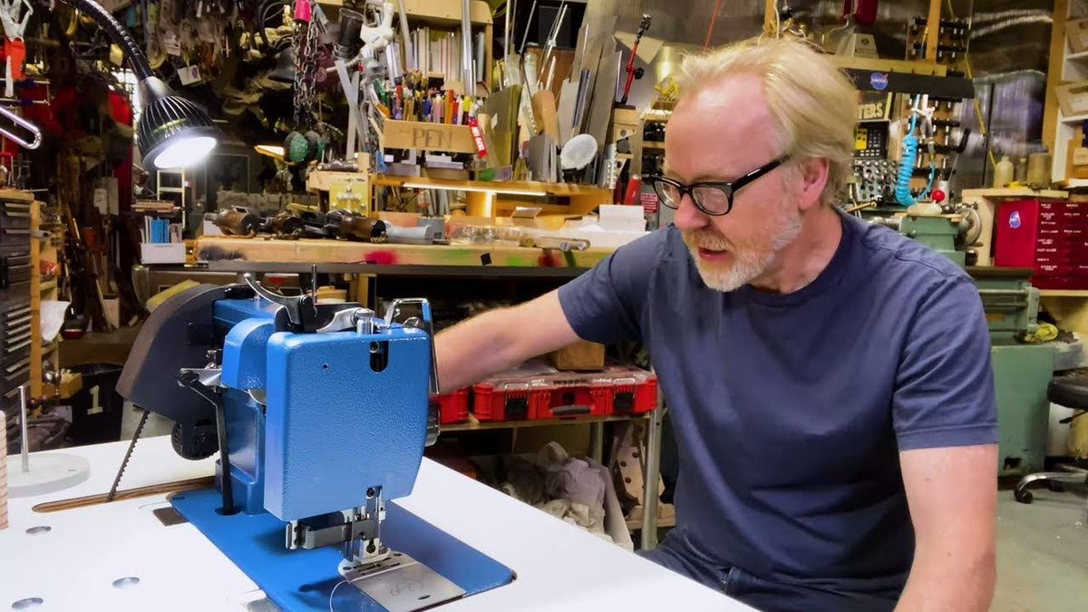See @donttrythis unbox and set up his new @sailrite sewing machine and table. [TESTED PATRON EXCLUSIVE] https://t.co/JurgFhUYrL https://t.co/oW1eXxzncp