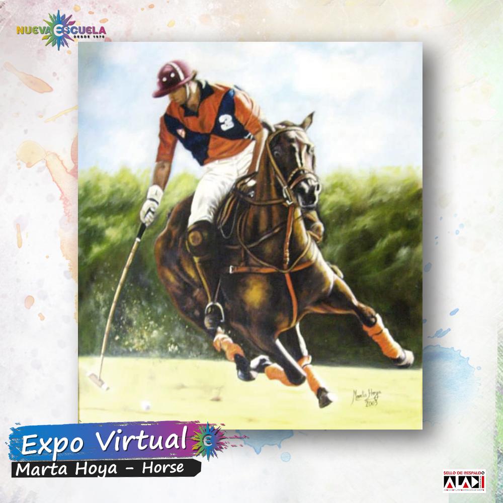 Expo virtual Nueva Escuela. . -Artista Marta Hoya. -Expo: Horses  -Tecnica: Oleo sobre bastidor. #nuevaescuela #expovirtual #expo #pintura #artistavisual #artista #caballos #horses #buenosaires https://t.co/r1RikMrJVL