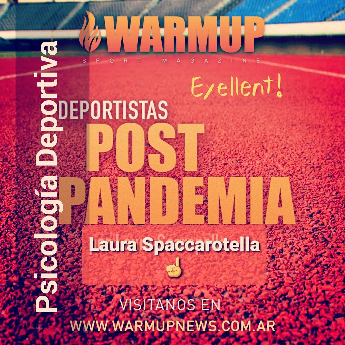 📢 notón de #PsicologíaDeportiva  @LSpaccarotella  #FUNADEP #WARMUP  ▶️ https://t.co/arpM2nAELm https://t.co/YoB0I7nEGF