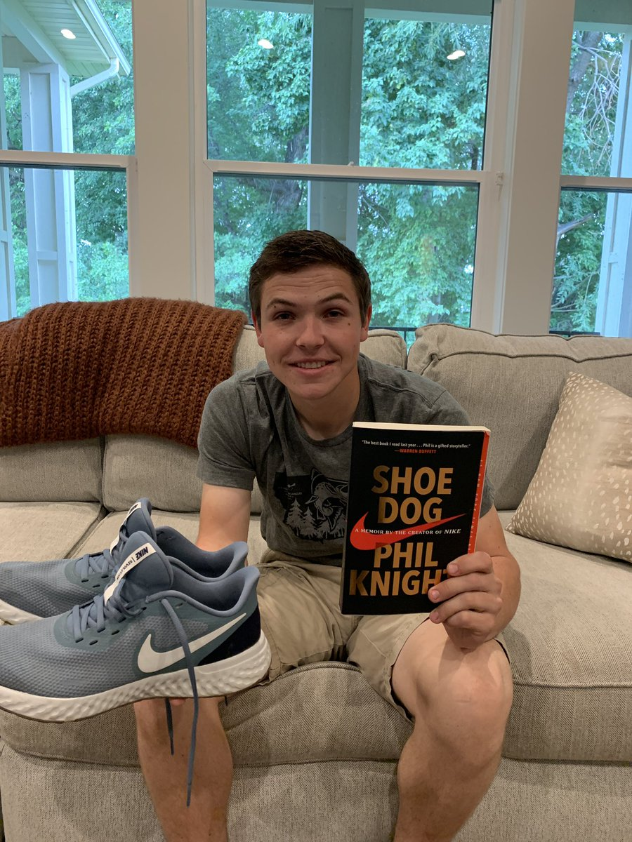 In an effort to spur reading in my home, a few months ago I offered any of my boys a brand new pair of @Nike shoes if they would read Phil Knight's book Shoe Dog. Three of them did it! And they liked it! Here they are with their winnings. #YouCantStopUs https://t.co/jl0RaiWsks