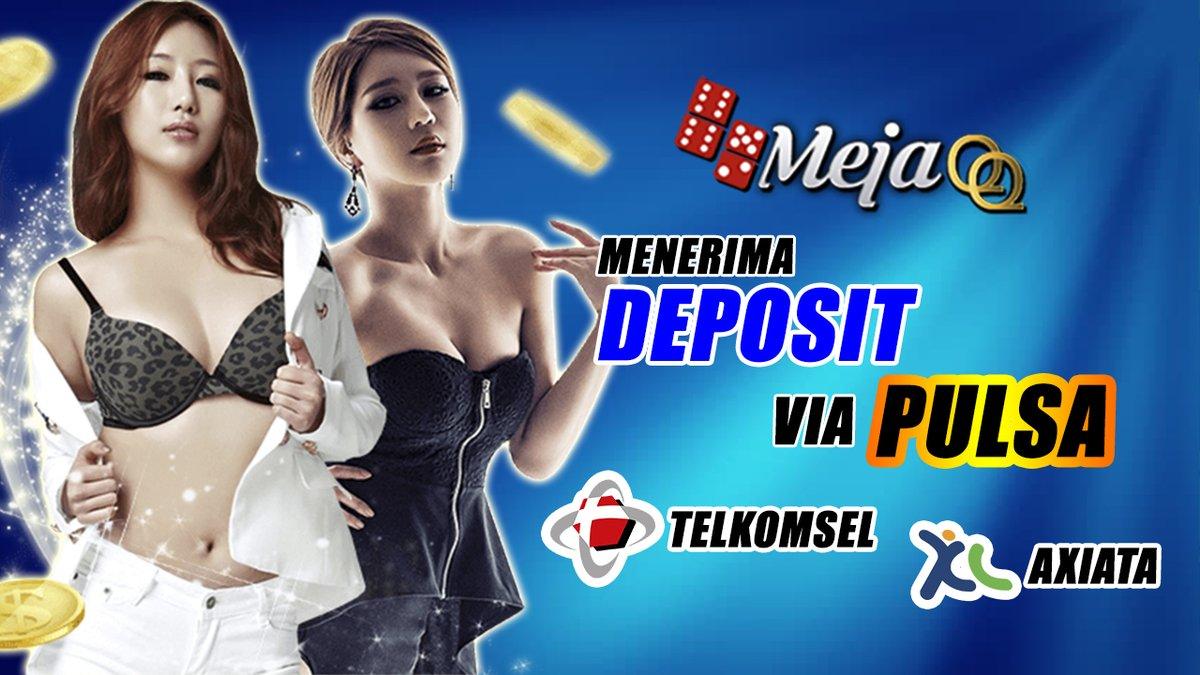 Kini Deposit Pulsa di MejaQQ tidak Terkena Potongan!! Deposit Pulsa 100% masuk sesuai dengan Pulsa yang di kirimkan loh!! gabung sekarang juga untuk bermain menggunakan pulsa di Mejayes,com (Sistem Deposit Mudah) #AgenBandarQOnline #BandarQOnline #AgenBandarQ #Mejayes #MEJAQQ https://t.co/KRD4CbRGd5