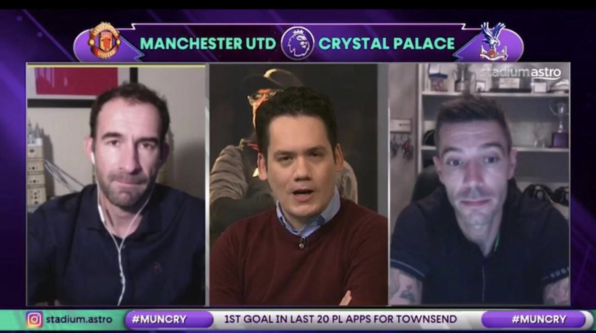 Had a great time on @stadiumastro today with @Higginbotham05 for the Man U v @cpfc game hosted by the legend @adamcarruthers 🎤  What a win for Palace, and not gonna lie I called it before the game 🙌 @CelebAppearance  #stadiumastro #premierleague https://t.co/IYWVGJk5MS