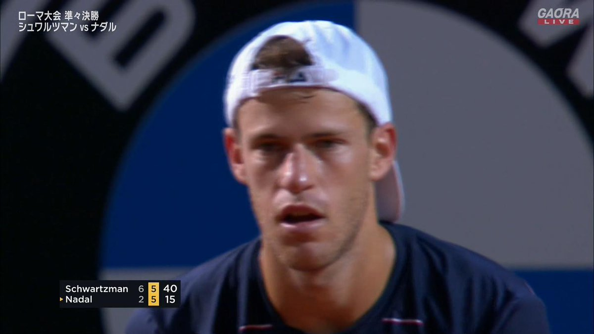 第2セット第11ゲーム シュワルツマンブレイク シュワルツマン「カモンッ!」  シュワルツマン6-5  🇪🇸ナダル vs シュワルツマン🇦🇷 BNLイタリア国際 ATP Masters 1000 準々決勝🎾 https://t.co/UcwcYOCJOV