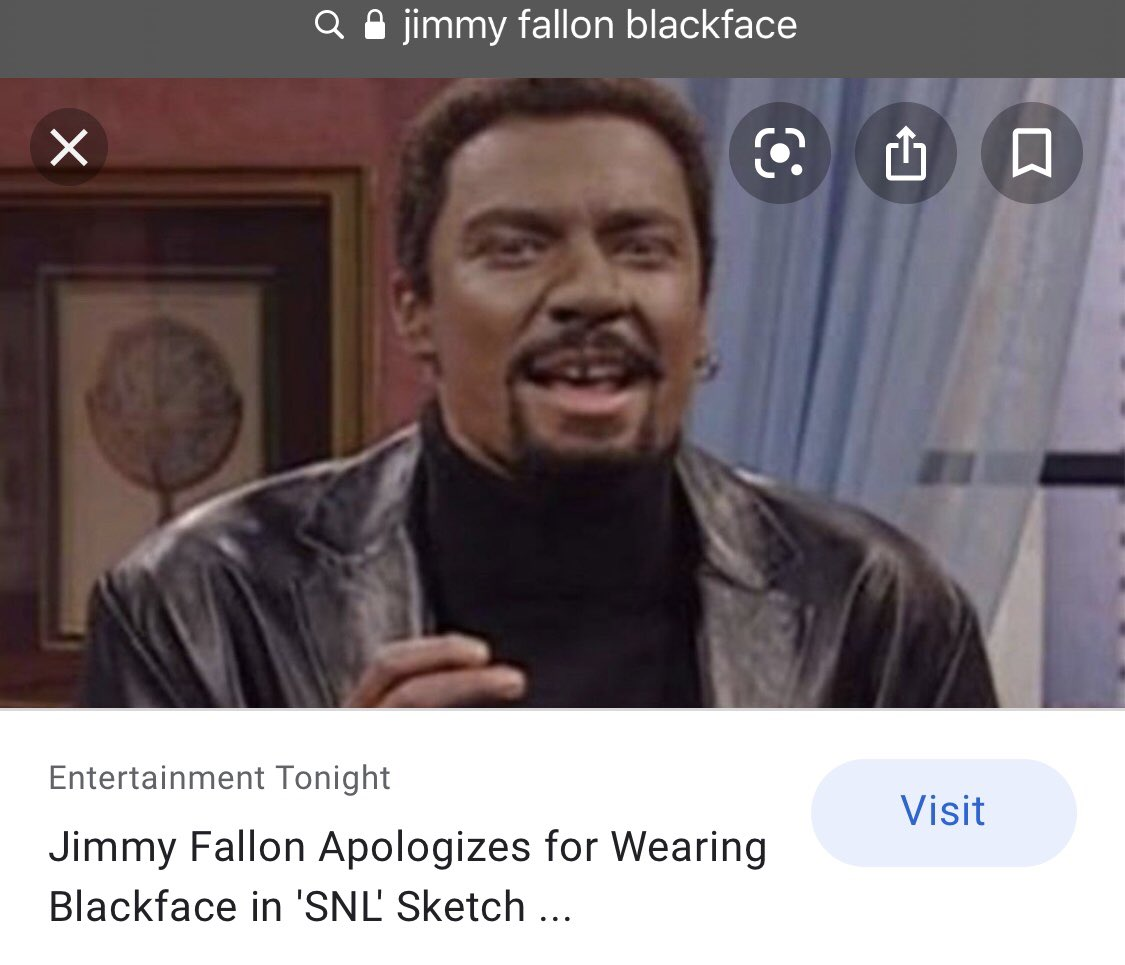 oh my gosh. just found out that jimmy had to apologize for doing blackface. how immature and irresponsible of him. let's bring back my favorite hashtag #jimmyfallonisoverparty https://t.co/6DsWg1FDap