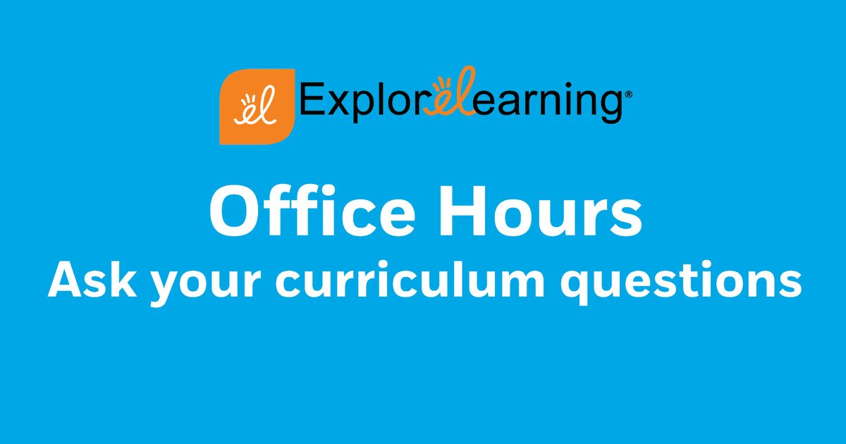 Do you have curriculum questions for EL products? Our professional development team is available for office hours, weekdays from Noon to 1 p.m. EST! #ELGizmos #ReflexMath #Science4Us #EdTech #RemoteLearning https://t.co/gbJUbfGXnm https://t.co/YdXMS2GElG