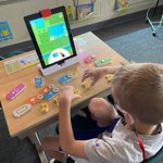 Image for the Tweet beginning: Coding fun with @PlayOsmo during