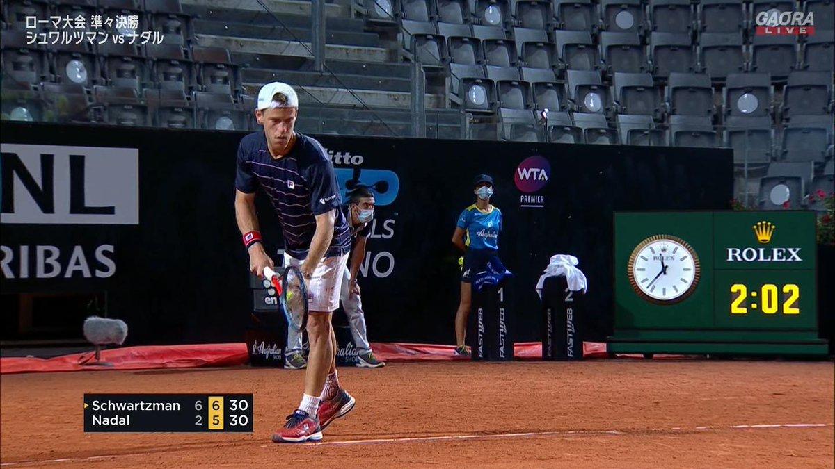マッチポイント シュワルツマン  🇪🇸ナダル vs シュワルツマン🇦🇷 BNLイタリア国際 ATP Masters 1000 準々決勝🎾 https://t.co/onB45PoNYI