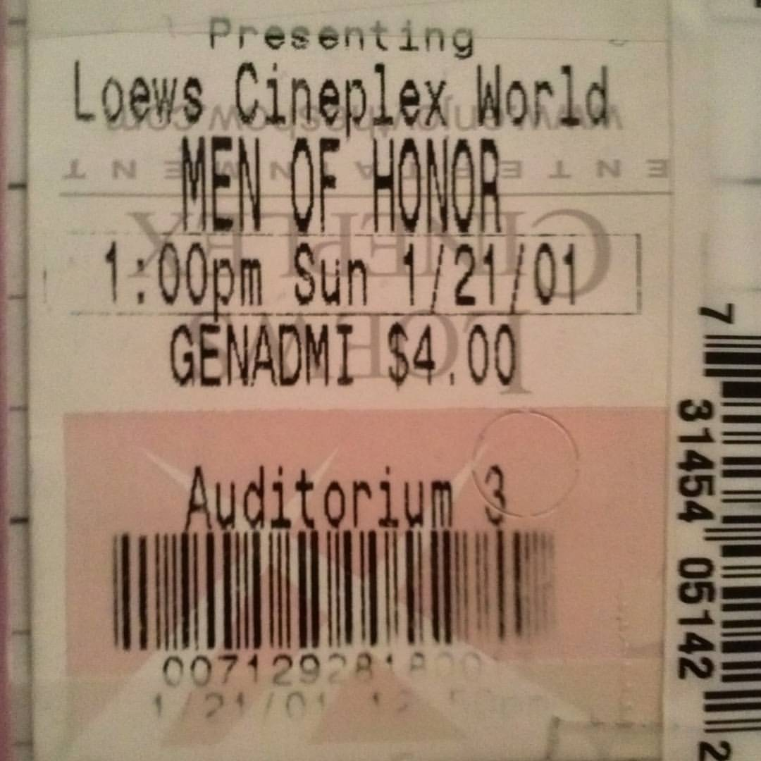 Look how cheap movie tickets were in 2001 #flashback #menofhonor #movie #tickets #movietickets #movietheater #movienight #movienews #entertainment #entertainmentnews #NewYorkCity #NewYork #NYC #NY #loewstheater #history #memories #thesearethedaysofourlives #thosewerethedays https://t.co/iWtpoenJfu