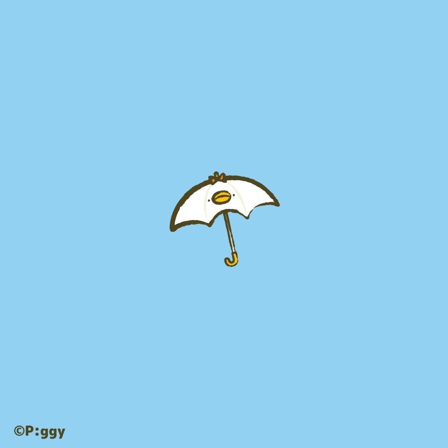 今日は傘の出番☔️  #ピヨピヨちぴよ #イラスト #illustration #雨 https://t.co/ZkDfTnZr0i
