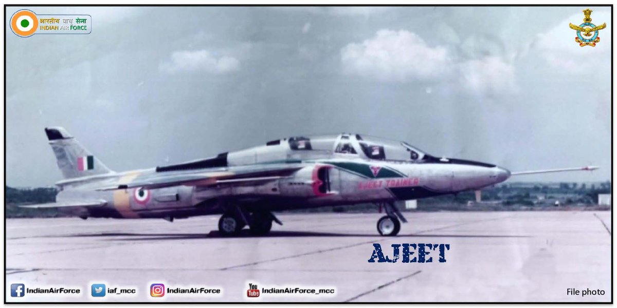 #ThisDayThatYear - #IAF: on 20 Sep 1982 the Prototype tandem seating Ajeet Jet Trainer made its first flight at Bangalore flown by Wg Cdr M W Tilak HAL's Chief Test Pilot. #KnowTheIAF #History