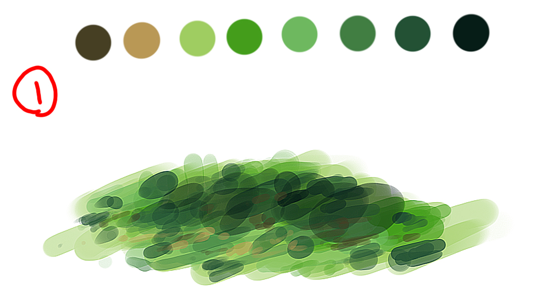 草の描き方ざっくりですがこんな感じで描いたりします。#イラスト #メイキング #描き方 #背景 #絵描きさんと繋がりたい #自然 #イラスト好きな人と繋がりたい