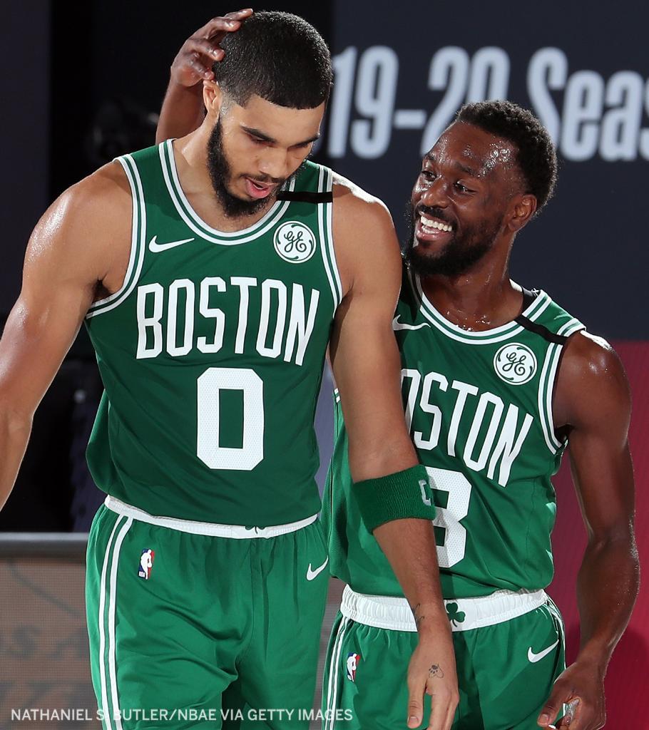 The Celtics win Game 3 ☘️  Tatum: 25 Pts, 14 Reb, 8 Ast Brown: 26 Pts, 7 Reb, 5 Ast Kemba: 21 Pts, 6 Reb https://t.co/8w9nk3i5WB