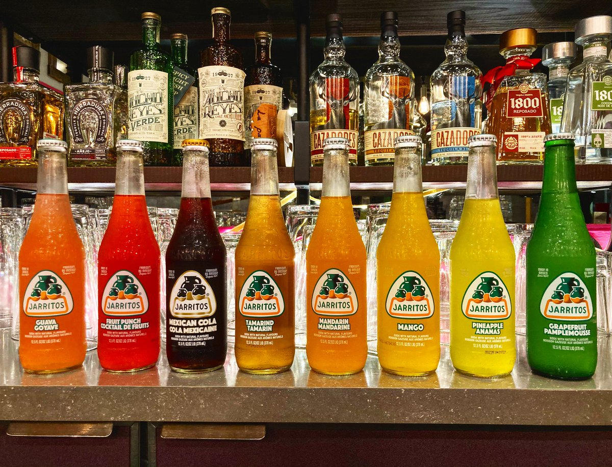 Jarritos are refreshing cane sugar sweetened sodas from Mexico. They come in a rainbow of flavours and make the perfect addition to your next take-out order! #lapatronayeg #yegfood #shpkeats #saturdayvibes #takeout https://t.co/o6B3yIZNBQ