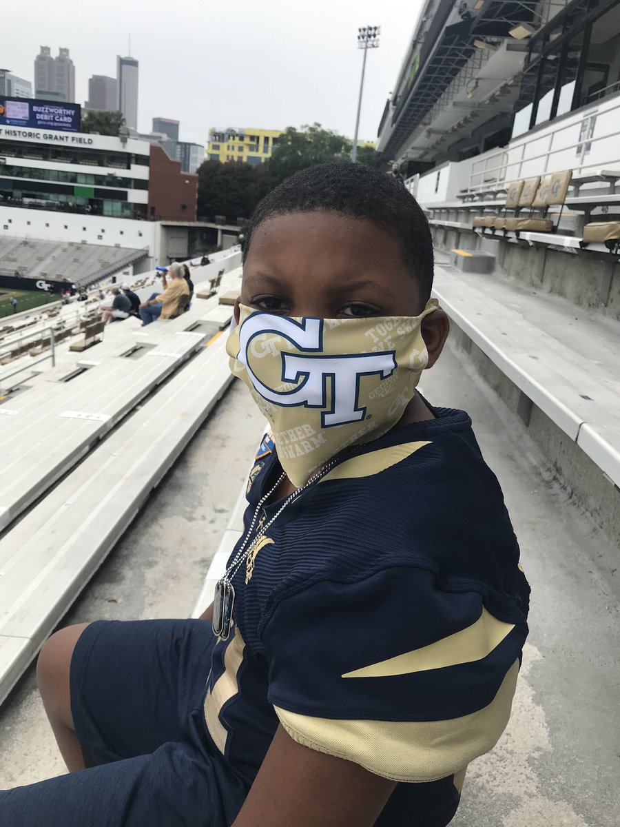 Supporting Big Brother at GT vs. UCF! #togetherweswarm @Bigmaye61