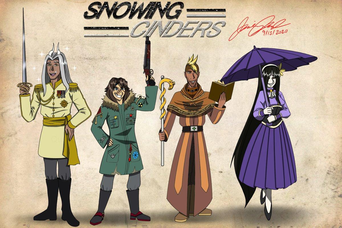 Snowing Cinders Main Character Lineup! This new Fantasy/Western is sure to be a blast so look forward to it! https://t.co/qKc0EredWp https://t.co/D6GUFkWeOA #comics #comic #comicstrip #comicstrips #webcomic #webcomics #webseries #series #art #cartoon #cartoons #artwork #story https://t.co/fqR0mL2YQC