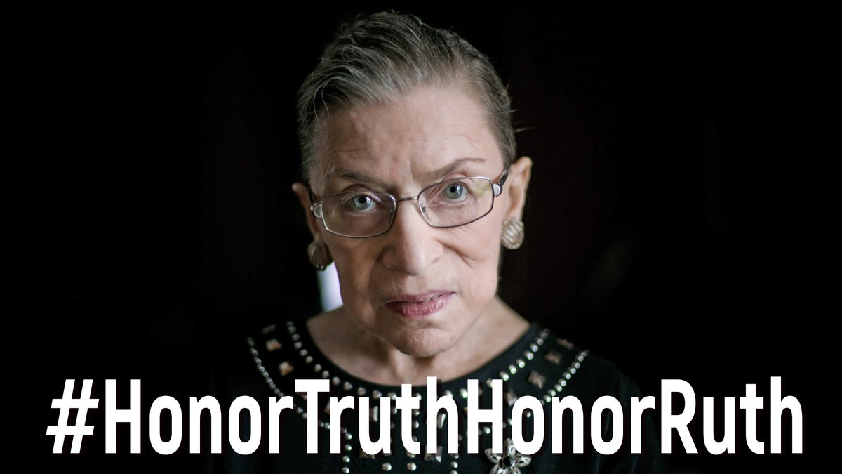 """We are not experiencing the best of times. But there's reason to hope that we will see a better day."" -- Justice Ruth Bader Ginsburg  PLEASE SHARE THIS HOPEFUL VIDEO.  #HonorTruthHonorRuth  https://t.co/zDNxfbzQZe"