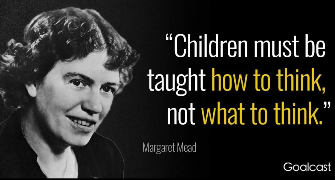Love this quote from anthropologist. Margaret Mead...