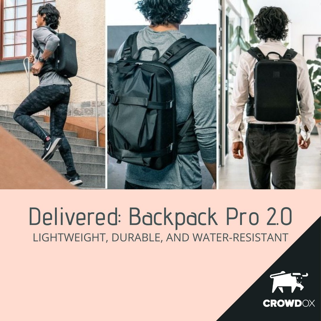 The Backpack Pro 2.0 is lightweight, durable, and water-resistant. The hard-shell exterior prevents it from feeling lumpy and provides a space to keep shoes separated from other things. Details on the #crowdox blog #crowdfunding #kickstarterproject https://t.co/bLBwAUdCVg https://t.co/NcNlP9t3ZR