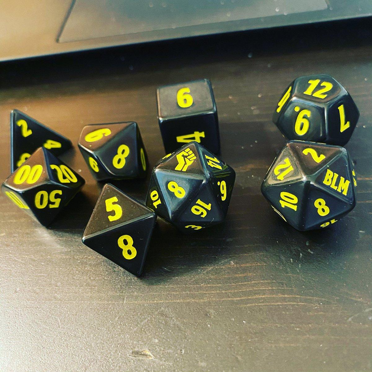 Got some new dice. #BLM #dice #dnd #ttrpg https://t.co/BCRcTKjHss