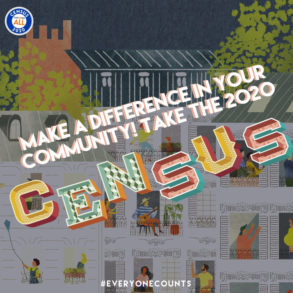 Time is running out to take the Census and make a difference in your community! Complete your Census online at https://t.co/vx6bKmT2hz, by phone 844-330-2020, or by mail, today! #EveryoneCounts #CaliforniaForAll #2020Census https://t.co/g4HnZ1eVsN