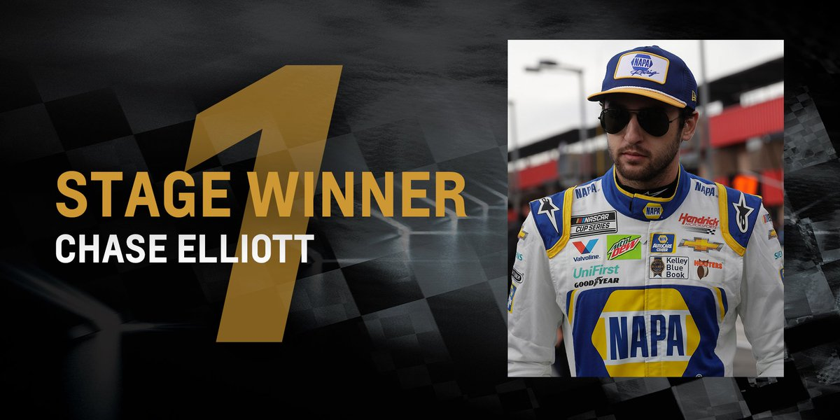 .@chaseelliott takes Stage 1 at @BMSupdates.