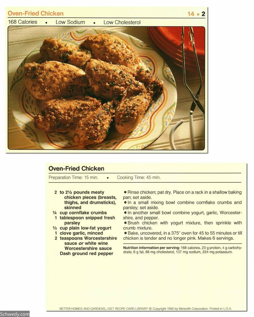Oven-Fried Chicken #recipecard #foodstagram #foodblogger #foodpics #foodie #cooking #foods #foodblog #retro #recipes #recipe #food #eat #eating #foodies #hungry #foodlovers https://t.co/8BmGjYcjLP https://t.co/xHoQ2kzvwx