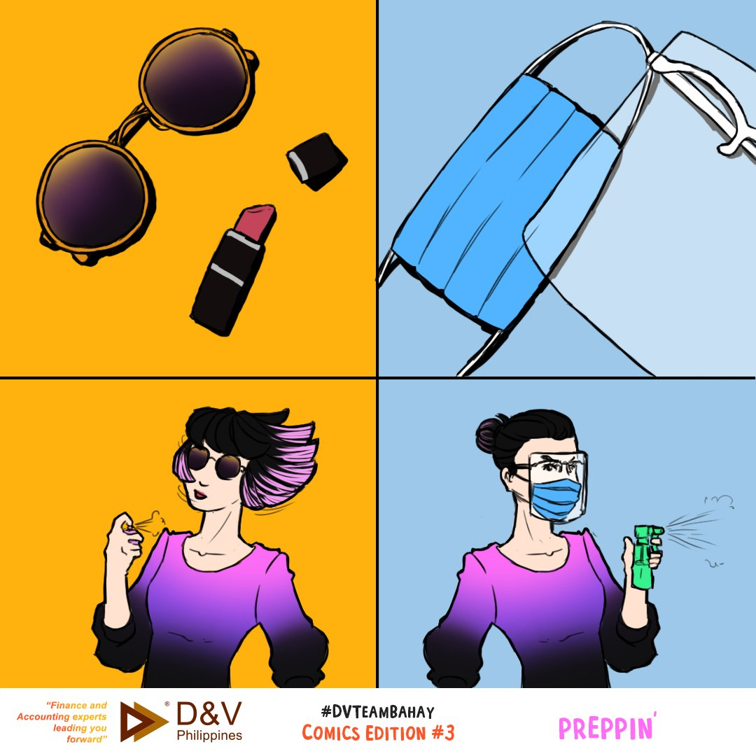 Face mask, face shield, and alcohol. This is the new fashion trend, isn't it?  Stay safe out there!  #DVPhilippines #LeadingYouForward #flattenthecurve #faceshields #facemasks #alcohol #Staysafe https://t.co/31bueiEaRq