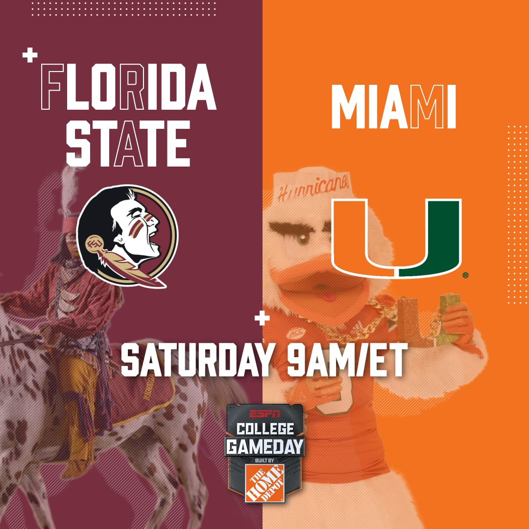 Still all about The U 🙌 We're headed to see @FSUFootball take on @CanesFootball next Saturday!