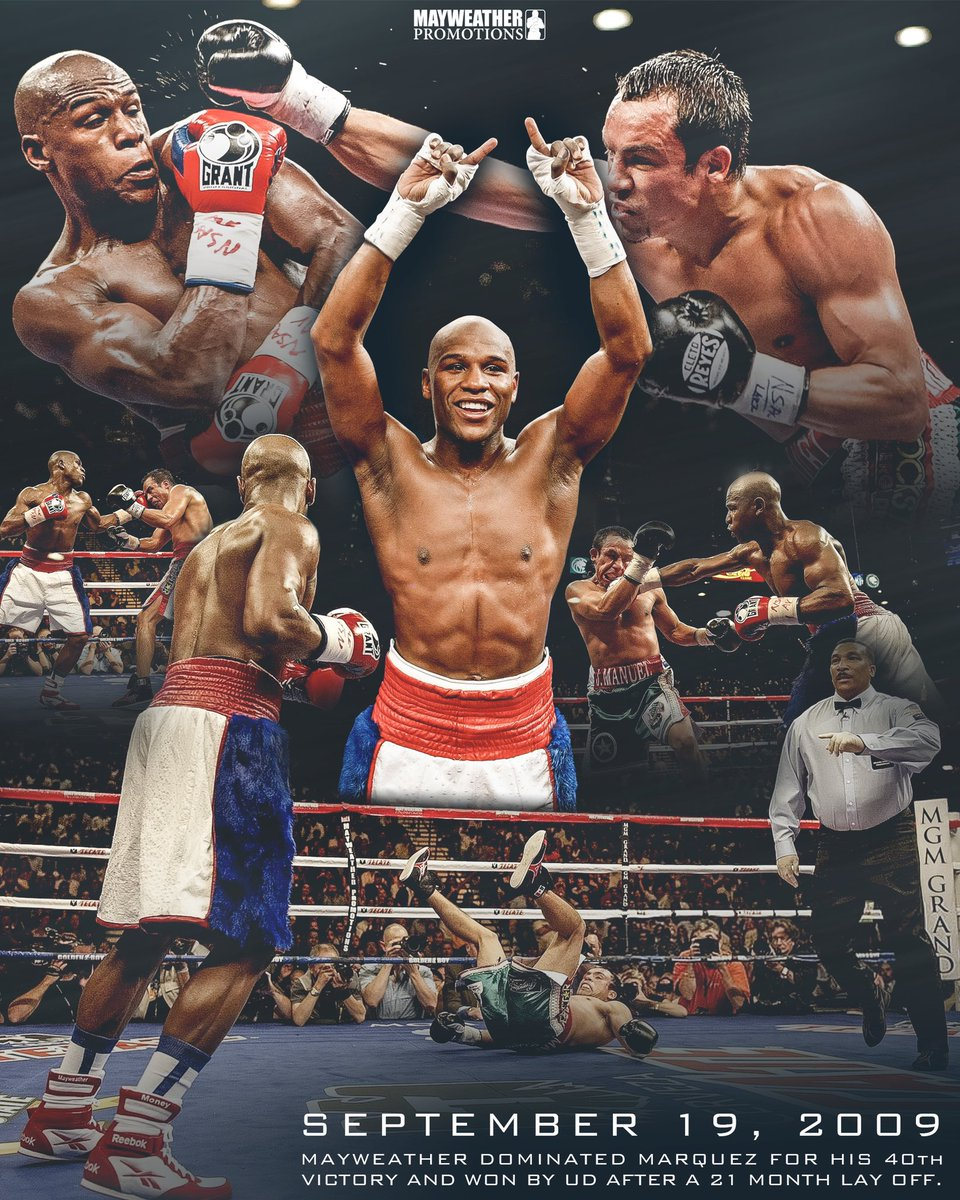 test Twitter Media - #OTD 11 years ago 🙌🏽 @FloydMayweather dominated Juan Manuel Marquez for his 40th victory. https://t.co/UVfMnGxRMv