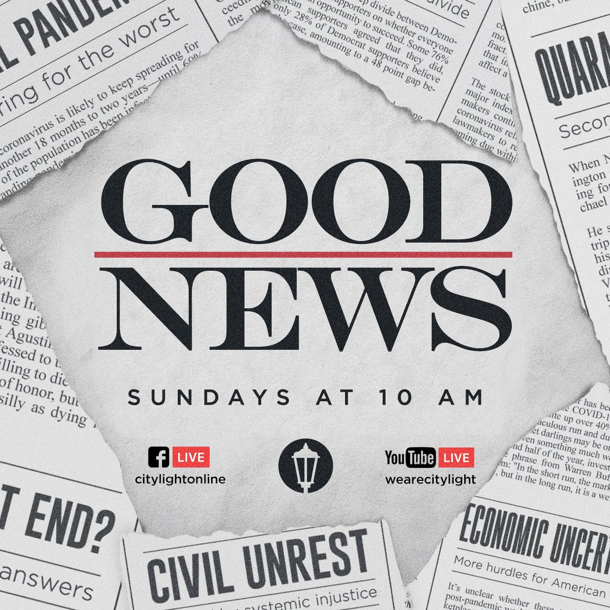 Join us for Sunday Service!  • https://t.co/EcWhc99I78 https://t.co/ptawqss3PX  • #citylightchurch #belong #believe #become #goodnewsseries https://t.co/fh215ApiFc