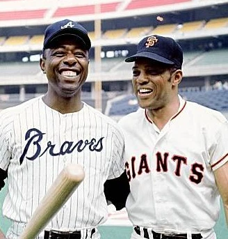 Hammerin' Hank and the Say Hey Kid. Here are their @sabr bios https://t.co/QWec7ke5tq https://t.co/JPBsWusina