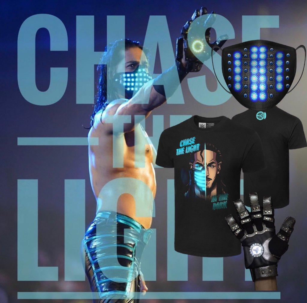 Mask. Shirt. Glove.   Chase The Light on @WWEShop   https://t.co/jzdCc2D5Yn https://t.co/XQfVuqZSca