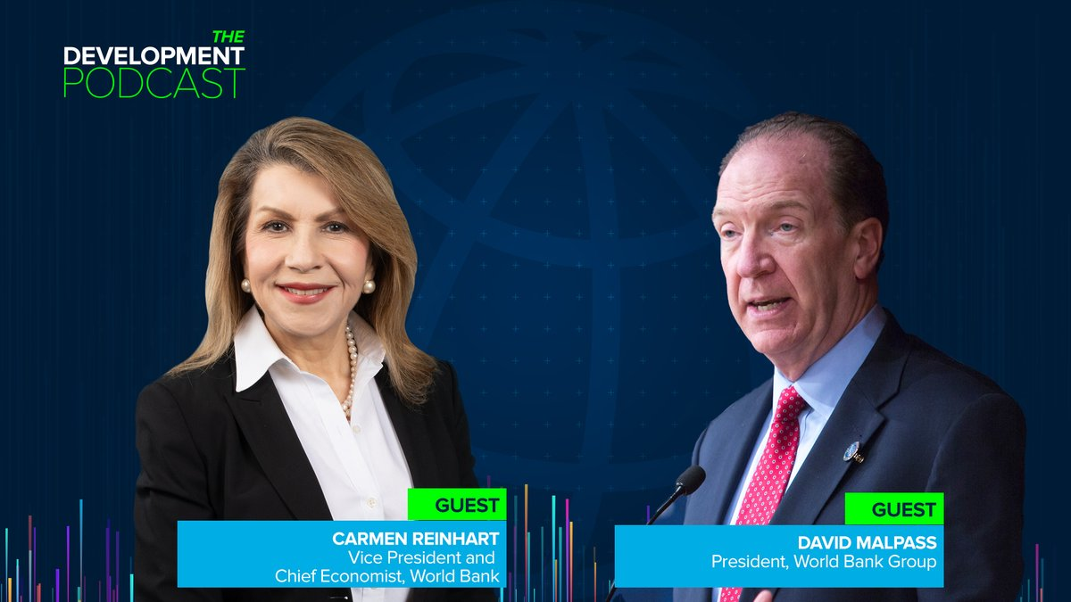 The Development Podcast: @DavidMalpassWBG and Chief Economist @carmenmreinhart discuss the state of the global economy and why #COVID19 will hit developing countries hardest.   ⚪️Web: https://t.co/YANaBnr6g4 🟢Spotify: https://t.co/bpPg4W8e7J  🌐Apple: https://t.co/l3g71N6ajN https://t.co/l6OhQiRFyO
