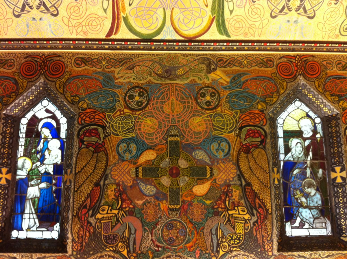Mary Concepta Lynch, an Irish nun and skilled calligrapher, who spent 16 years (1920-1936) decorating the Oratory of the Domincan Convent, Dun Laoghaire, County Dublin, Ireland #womensart https://t.co/zQuuMynTP9