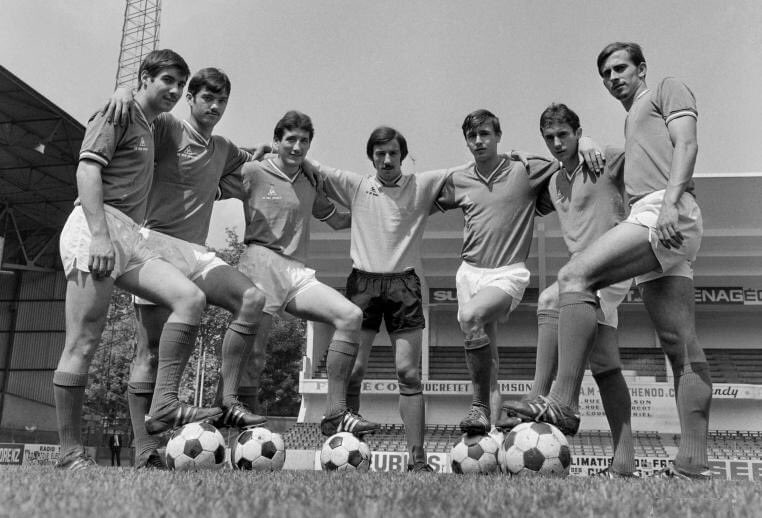 #SaintÉtienne #ASSE (1970):  #Repellini #Santini #PatrickRevelli #Migeon #Synaeghel #Sarramagna and #Merchadier. https://t.co/9SAw2VkCD8