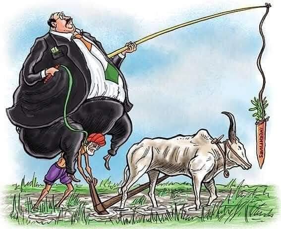 किसानों को अमीरों का गुलाम बनाना चाहती है मोदी सरकार..… इस शोषणकारी विधेयक से खेतों से किसानों का मालिकाना  हक छीनने की साज़िश है.  #KisanVirodhiNarendraModi https://t.co/RovV9fx4Eu