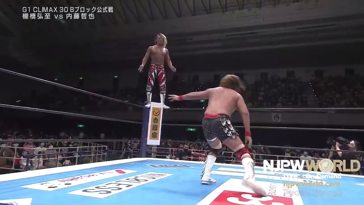 Tanahashi - Naito was excellent, gonna be hard to top that for best match of #G1CLIMAX30. Just what Naito needed to get his momentum going. #njpw https://t.co/Cvb1227GEy