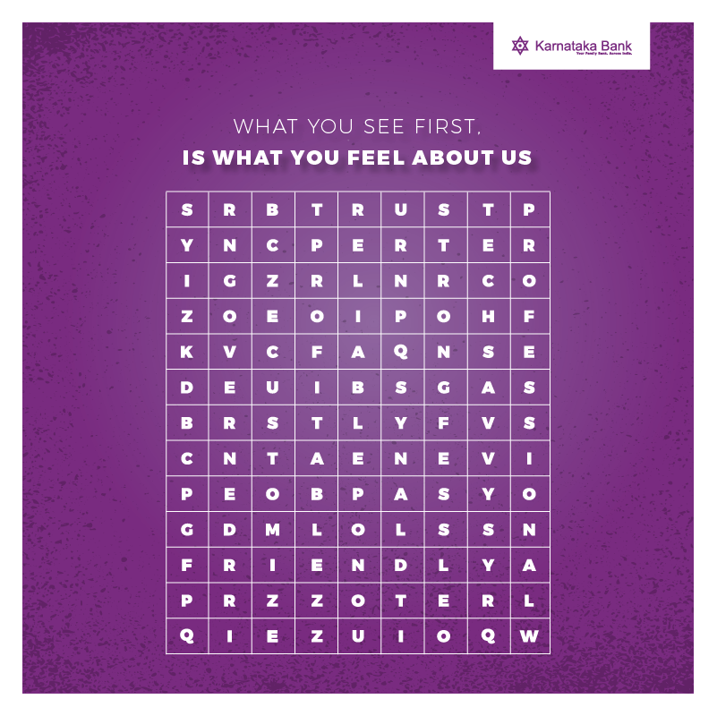 Contest Alert! Comment the first word you see, because what you see is what you think about us.  #Contest #ContestAlert #ContestIndia #contestalertindia #tagafriend #mobilebanking #KarnatakaBank #banking #digitalbanking #bankingexperience #easybanking https://t.co/4M03ssV5mN
