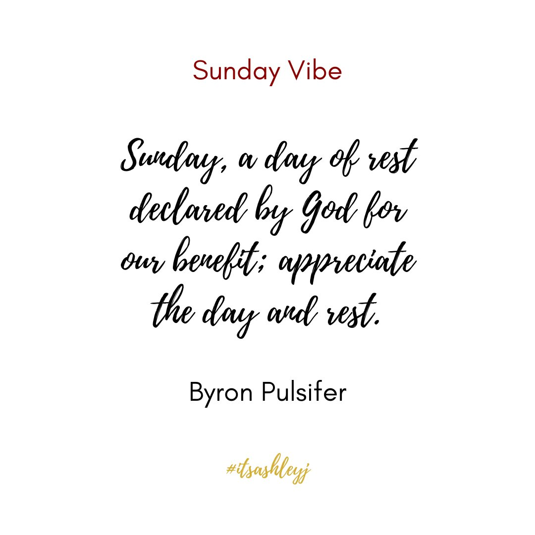 If God tells us that this is the day of rest, why are we making the day busy? Take advantage of what this day is for and rest. It will make you feel less stressed, happier, and calm. Just rest. #itsashleyj #sundayvibe #datecoach #God #day #of #rest #benefit #appreciate #declared https://t.co/n0DUv1geBl