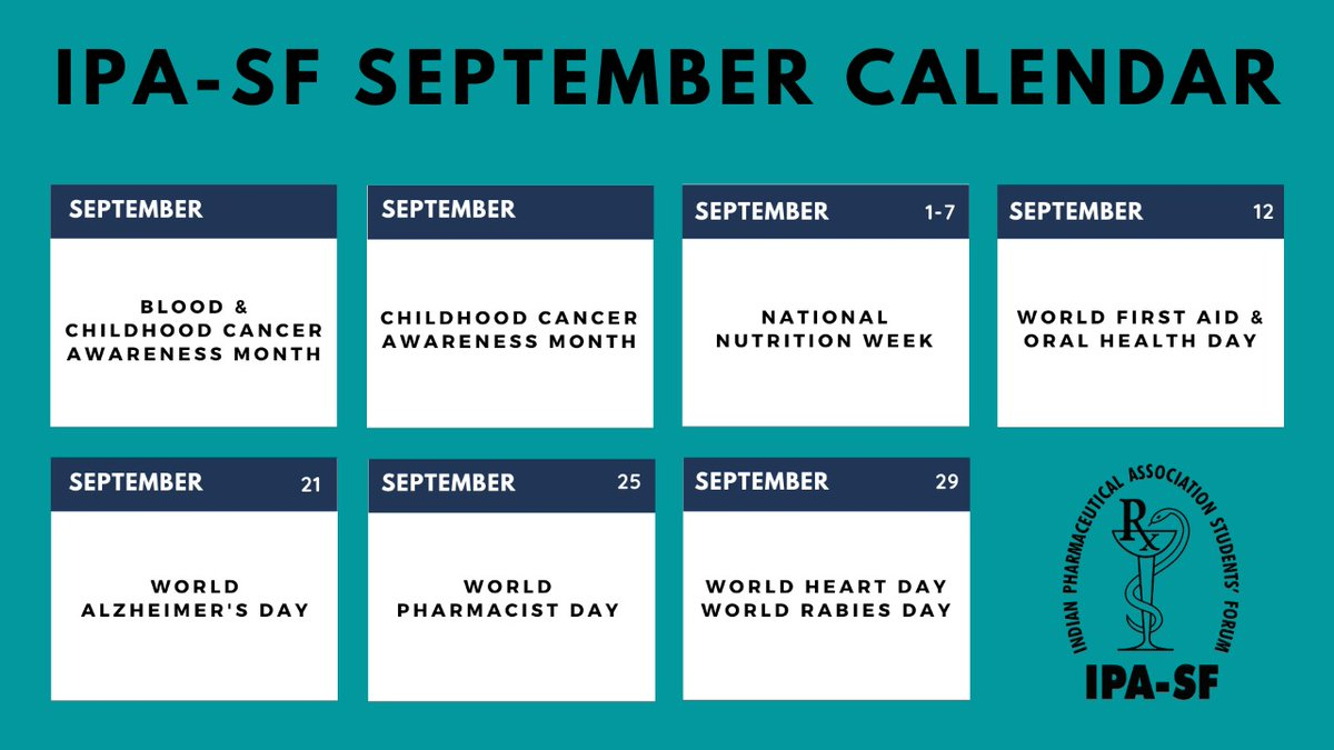 #ipasf #september #calendar #healthdays #awarenessmonths #selfcare  #health #wellness  #mindfulness #therapy  #fitness #healing #life #loveyourself  #recovery #wellbeing #inspiration  #happiness #positivevibes #positivity https://t.co/3FlTd2fQzZ