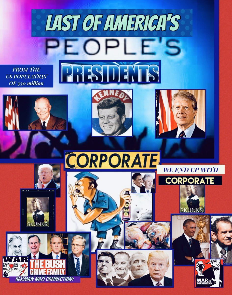 Just a few of the #CORPORATE #MISCREANTS #SKUNKS that Created the Greedy, and Selfish **#$$#SINK-#HOLE $$** - that help #CREATED the Financial - Social - Elitist #GRAND-#CANION of America's tunnel of decline, and decay. <> Greed (1:0:1 ) <>  #CORPORATIONS AREN'T #PEOPLE! https://t.co/zuFm6IEqup