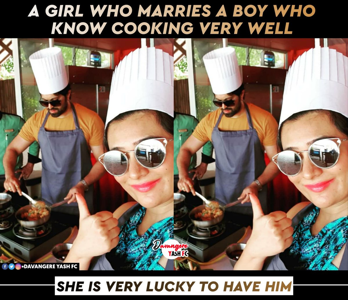 A Girl Who Marries A Boy Who Know Cooking Very Well She Is Very Lucky To Have Him❤️😍 @TheNameIsYash BOSS @RadhikaPandit7 athge  #radhikapandit  #nimmarp  #rockingstaryash #iamradhikapandit #yash #yashboss  #DavangereYashFC https://t.co/8uMbCeuDbR
