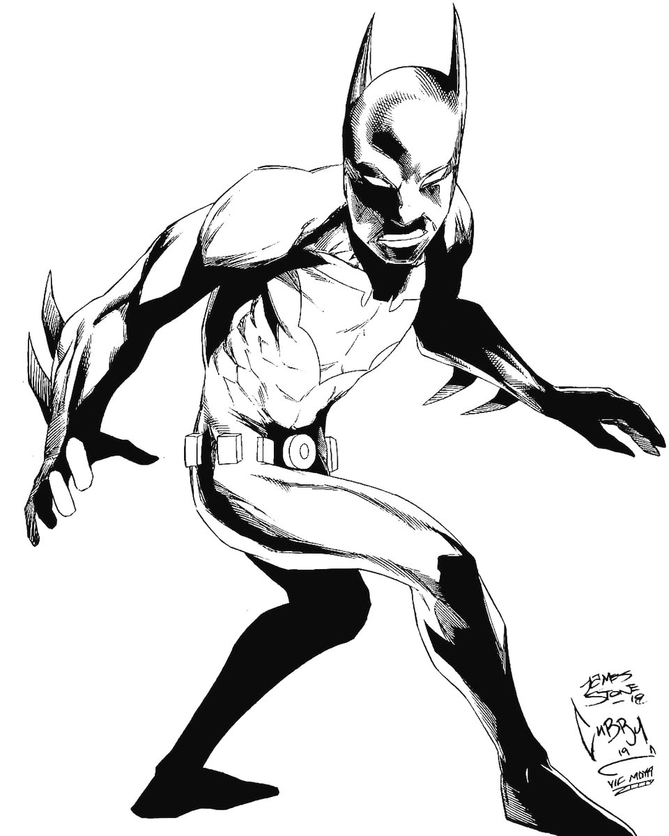 #batmanbeyond drawn in collaboration with @CillianCubstead and stellar inks by @VictorA55566521 https://t.co/vpVI8zdywv