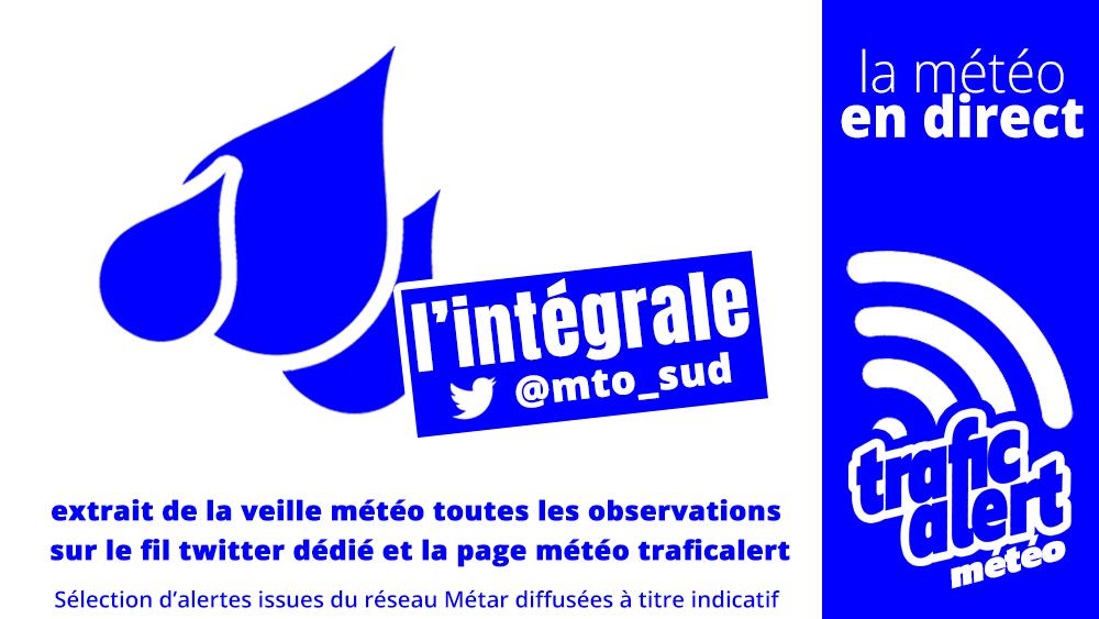 [LA MÉTÉO EN DIRECT] 05:00 #Nice/Côte D'Azur (06) : #précipitations abondantes 20 mm. Prudence, +de météo sur @mto_sud. #Meteo06 #AlpesMaritimes #météoroutière #risquemétéo https://t.co/xP0jsHQqmB